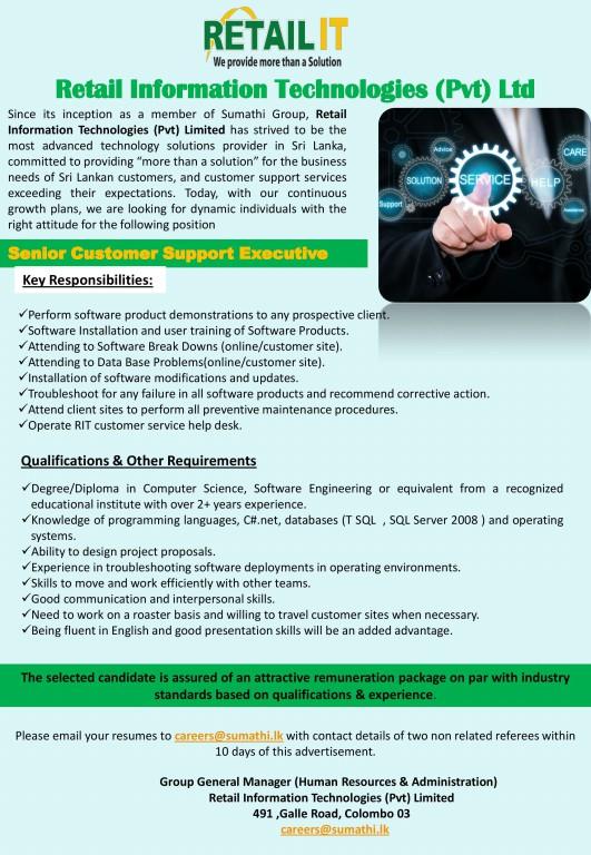 Retail-IT-Vacancy-Senior-Customer-Support-Executive